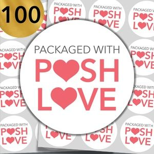 "100 - Count 2"" Posh Love Stickers for Packaging"
